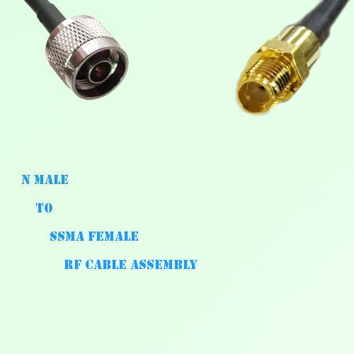 N Male to SSMA Female RF Cable Assembly