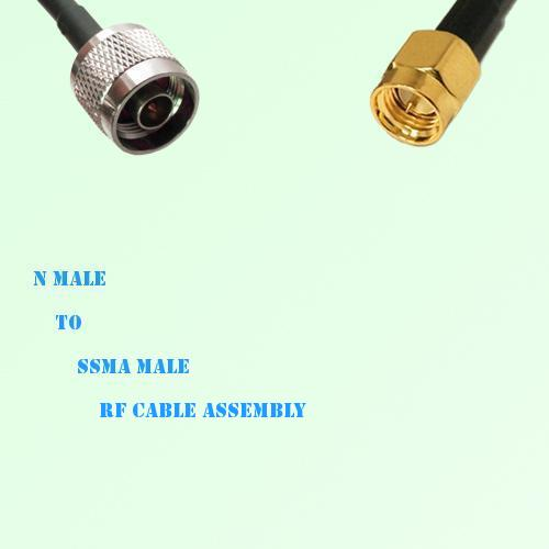N Male to SSMA Male RF Cable Assembly