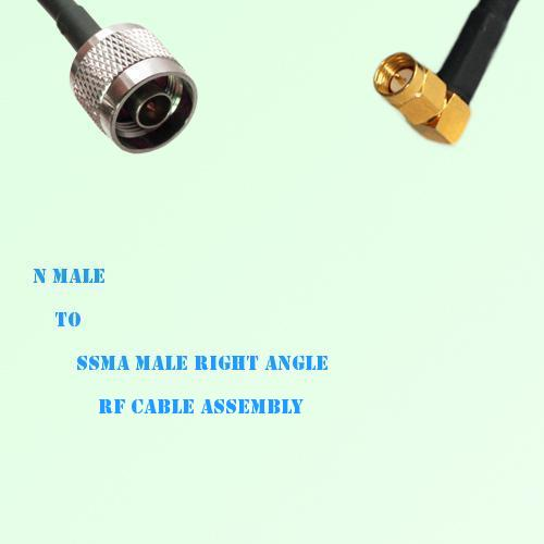 N Male to SSMA Male Right Angle RF Cable Assembly