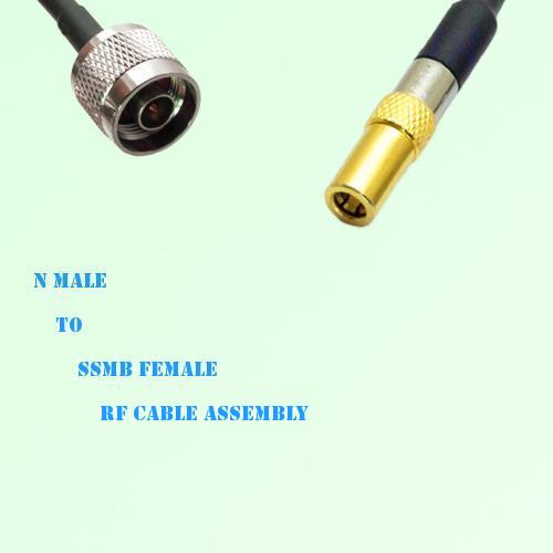 N Male to SSMB Female RF Cable Assembly