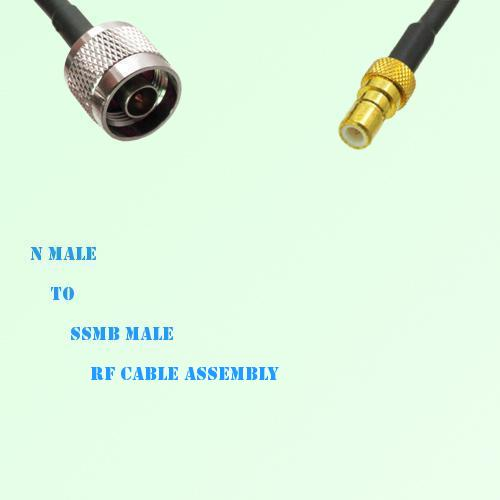 N Male to SSMB Male RF Cable Assembly
