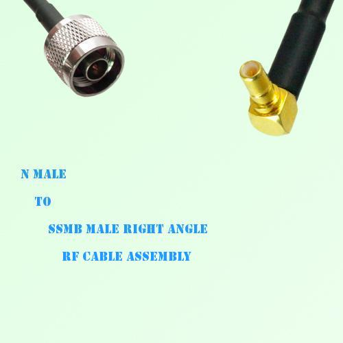 N Male to SSMB Male Right Angle RF Cable Assembly