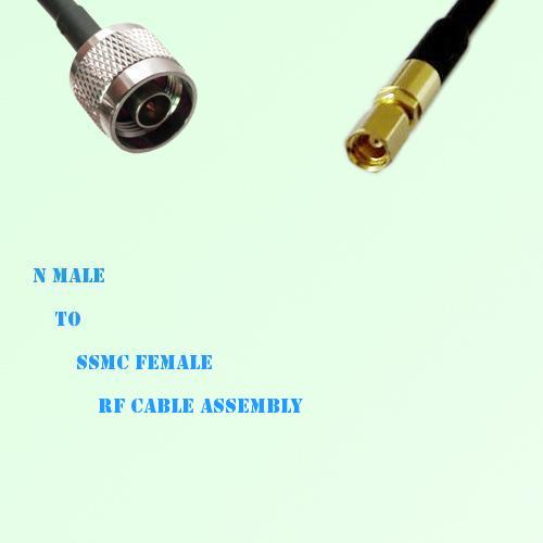 N Male to SSMC Female RF Cable Assembly