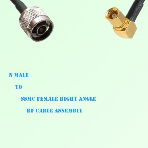 N Male to SSMC Female Right Angle RF Cable Assembly