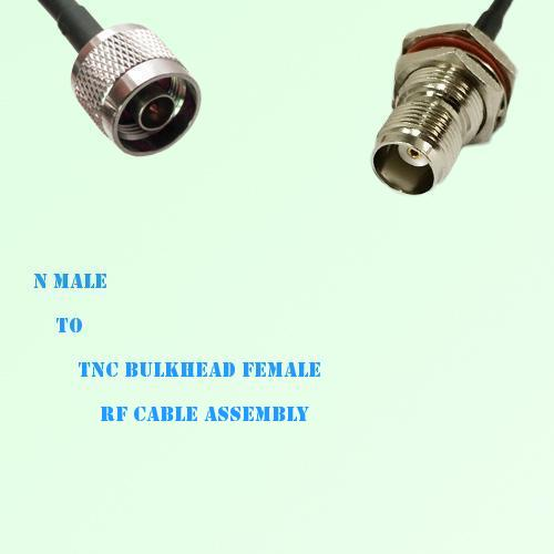 N Male to TNC Bulkhead Female RF Cable Assembly