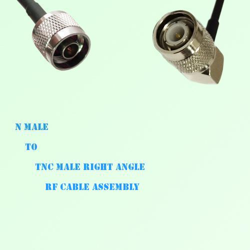 N Male to TNC Male Right Angle RF Cable Assembly