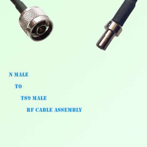 N Male to TS9 Male RF Cable Assembly