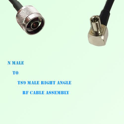 N Male to TS9 Male Right Angle RF Cable Assembly