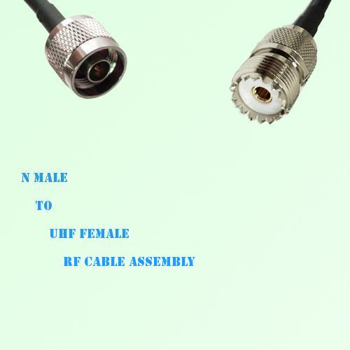 N Male to UHF Female RF Cable Assembly