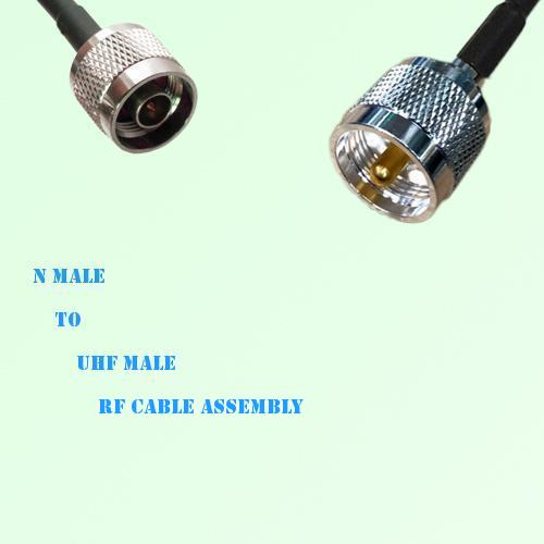 N Male to UHF Male RF Cable Assembly