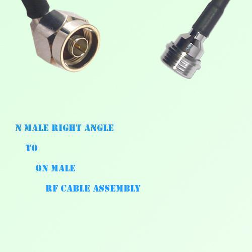 N Male Right Angle to QN Male RF Cable Assembly