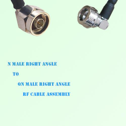 N Male Right Angle to QN Male Right Angle RF Cable Assembly