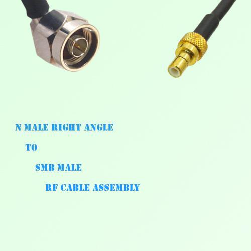 N Male Right Angle to SMB Male RF Cable Assembly
