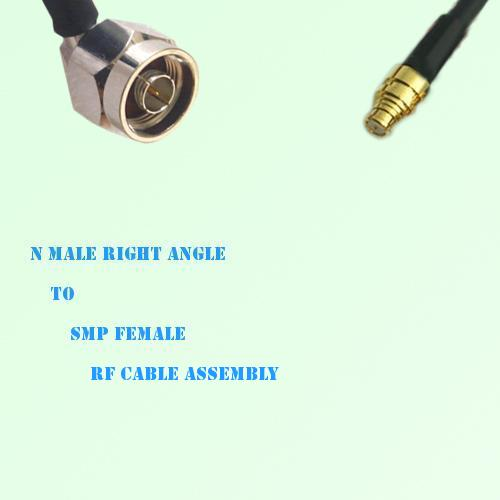N Male Right Angle to SMP Female RF Cable Assembly