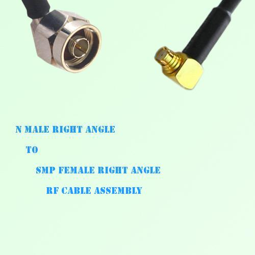 N Male Right Angle to SMP Female Right Angle RF Cable Assembly