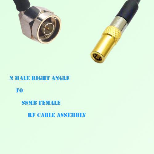 N Male Right Angle to SSMB Female RF Cable Assembly