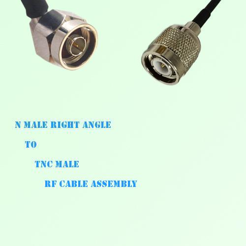 N Male Right Angle to TNC Male RF Cable Assembly