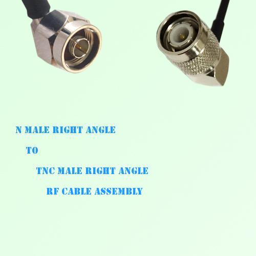 N Male Right Angle to TNC Male Right Angle RF Cable Assembly