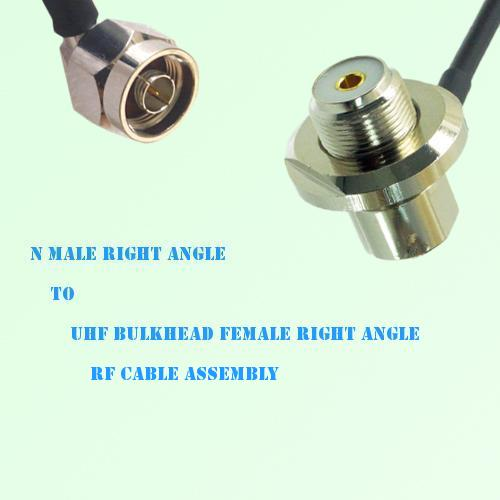 N Male R/A to UHF Bulkhead Female R/A RF Cable Assembly