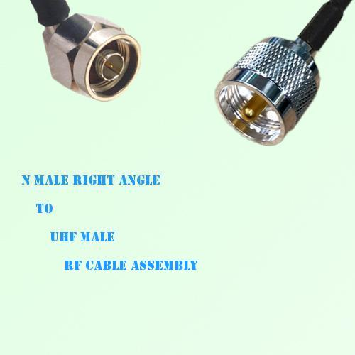N Male Right Angle to UHF Male RF Cable Assembly
