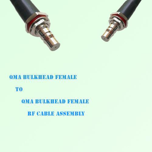QMA Bulkhead Female to QMA Bulkhead Female RF Cable Assembly