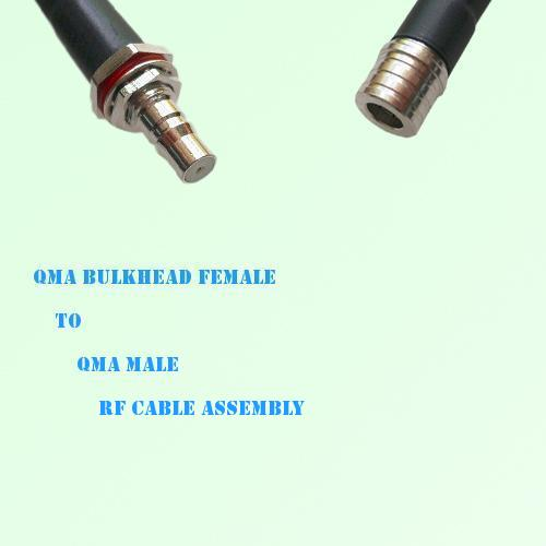 QMA Bulkhead Female to QMA Male RF Cable Assembly