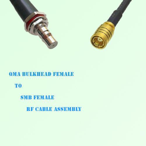 QMA Bulkhead Female to SMB Female RF Cable Assembly