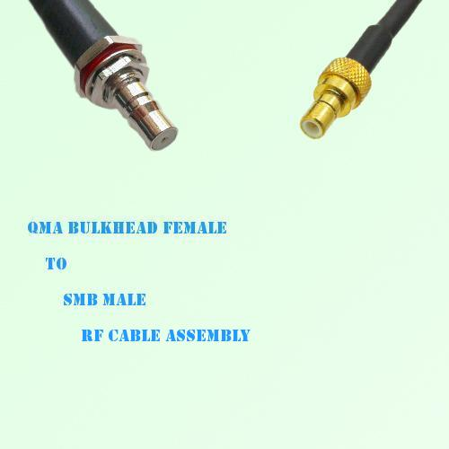 QMA Bulkhead Female to SMB Male RF Cable Assembly