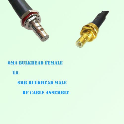 QMA Bulkhead Female to SMB Bulkhead Male RF Cable Assembly