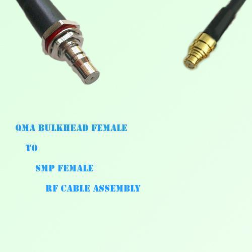 QMA Bulkhead Female to SMP Female RF Cable Assembly