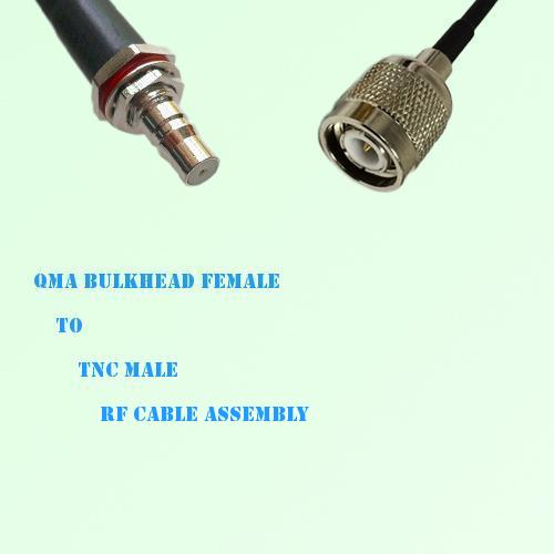 QMA Bulkhead Female to TNC Male RF Cable Assembly