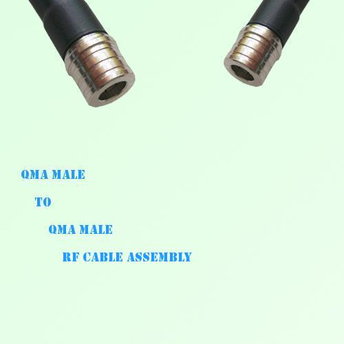 QMA Male to QMA Male RF Cable Assembly