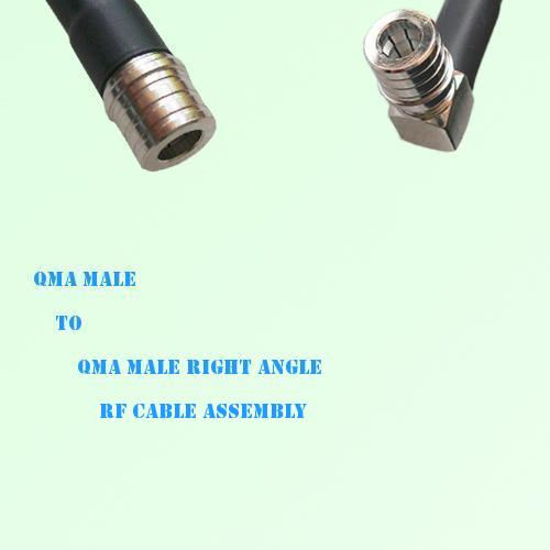 QMA Male to QMA Male Right Angle RF Cable Assembly