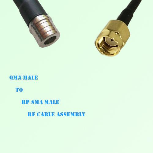 QMA Male to RP SMA Male RF Cable Assembly