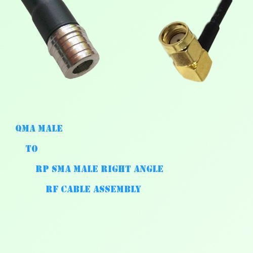 QMA Male to RP SMA Male Right Angle RF Cable Assembly