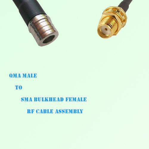 QMA Male to SMA Bulkhead Female RF Cable Assembly