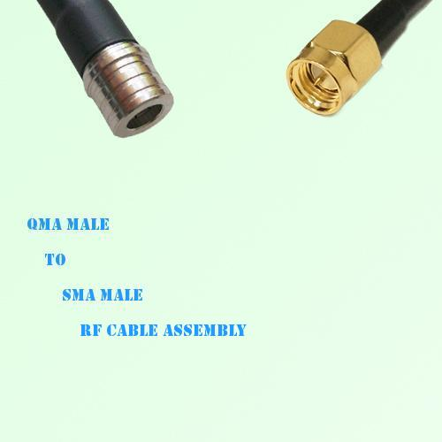 QMA Male to SMA Male RF Cable Assembly
