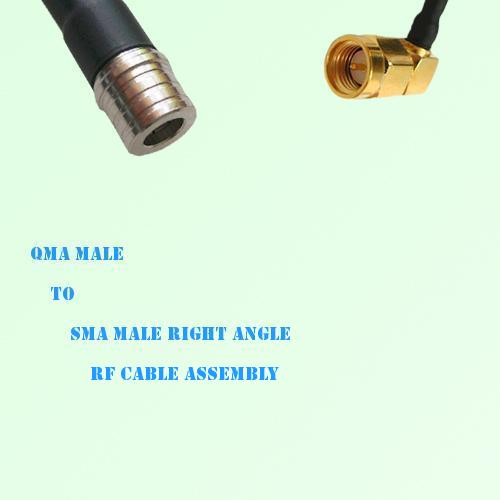QMA Male to SMA Male Right Angle RF Cable Assembly