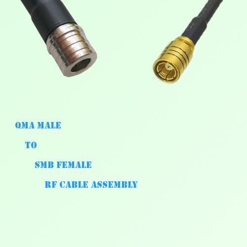 QMA Male to SMB Female RF Cable Assembly