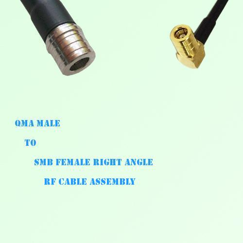 QMA Male to SMB Female Right Angle RF Cable Assembly