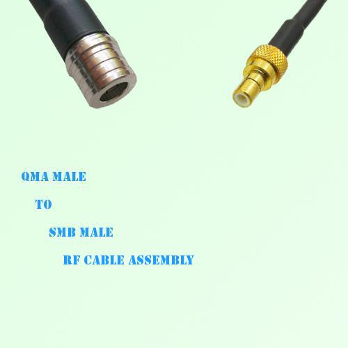 QMA Male to SMB Male RF Cable Assembly