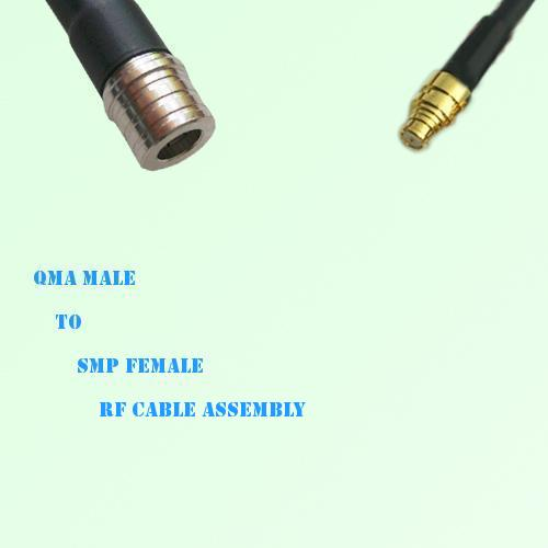 QMA Male to SMP Female RF Cable Assembly