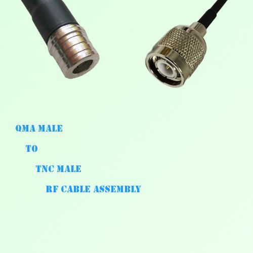 QMA Male to TNC Male RF Cable Assembly