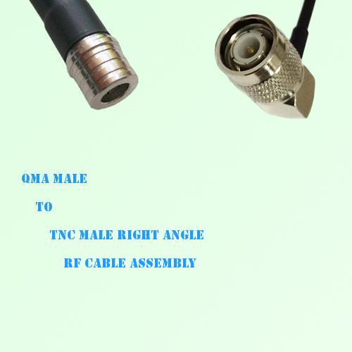 QMA Male to TNC Male Right Angle RF Cable Assembly