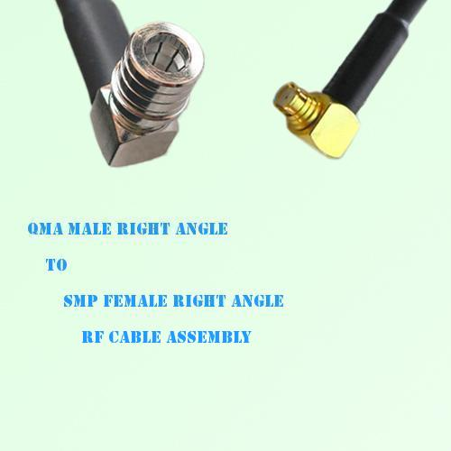 QMA Male Right Angle to SMP Female Right Angle RF Cable Assembly