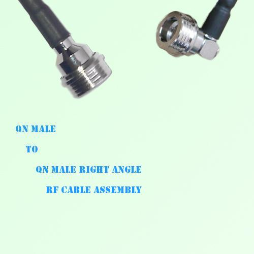 QN Male to QN Male Right Angle RF Cable Assembly