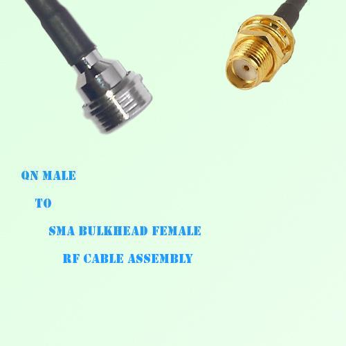 QN Male to SMA Bulkhead Female RF Cable Assembly