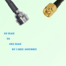 QN Male to SMA Male RF Cable Assembly