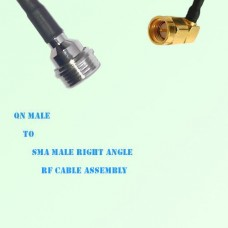 QN Male to SMA Male Right Angle RF Cable Assembly
