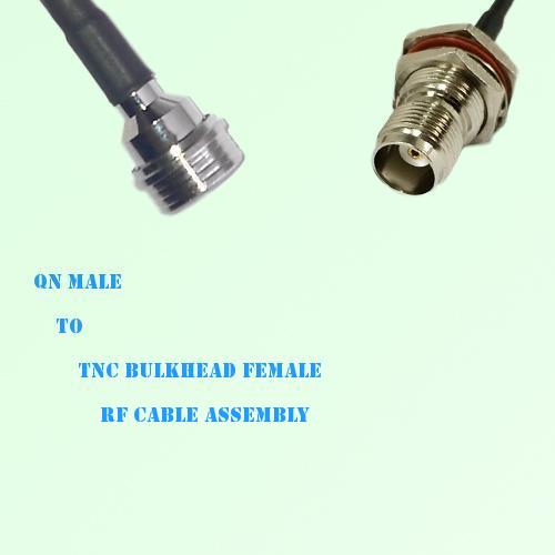 QN Male to TNC Bulkhead Female RF Cable Assembly